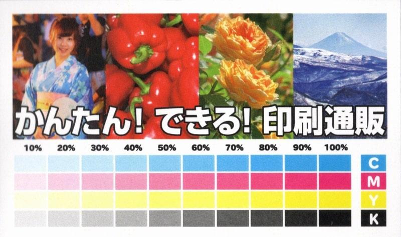 名刺良品で印刷した名刺スキャン(小)